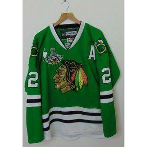 CCM Reebok 50 Chicago Blackhawks Jersey Green